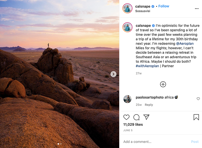 Instagram influencer marketing strategy - calsnape