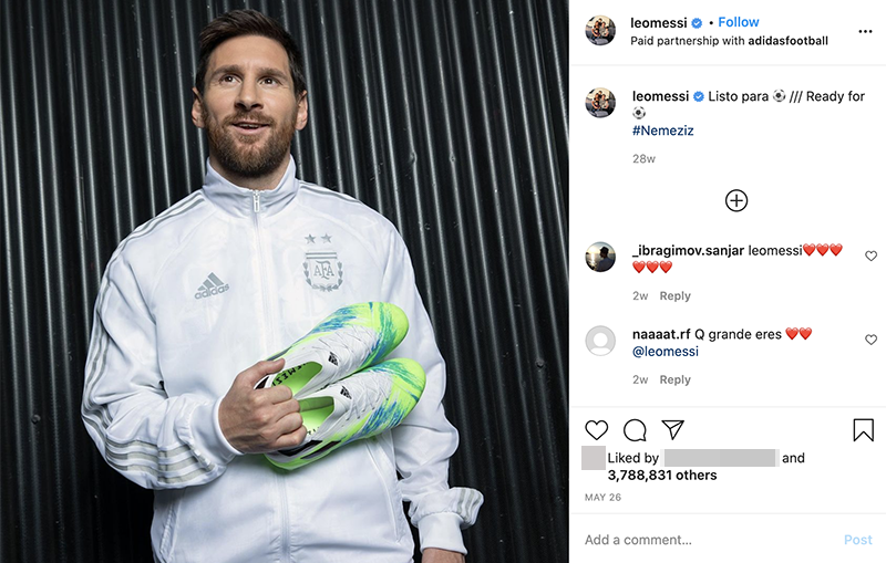 Instagram influencer marketing strategy - leomessi