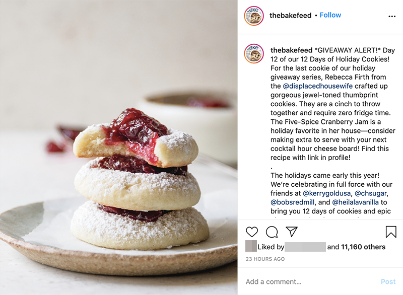 Instagram influencer marketing strategy - thebakefeed