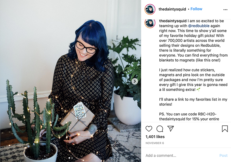 Instagram influencer marketing strategy - thedaintysquid